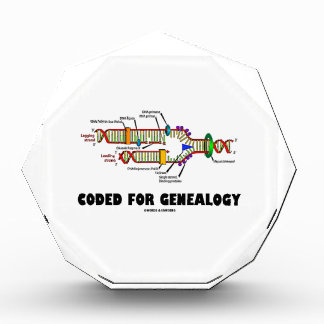 Coded For Genealogy (DNA Replication) Acrylic Award