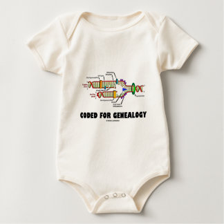 Coded For Genealogy (DNA Replication) Baby Bodysuit