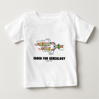 Coded For Genealogy (DNA Replication) Baby T-Shirt