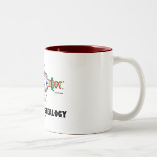Coded For Genealogy (DNA Replication) Two-Tone Coffee Mug