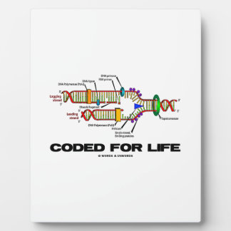Coded For Life DNA Replication Molecular Biology Plaque