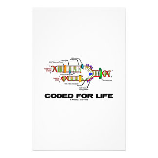 Coded For Life DNA Replication Molecular Biology Stationery
