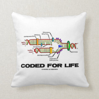 Coded For Life DNA Replication Molecular Biology Throw Pillow