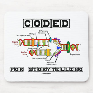 Coded For Storytelling (DNA Replication) Mouse Pad