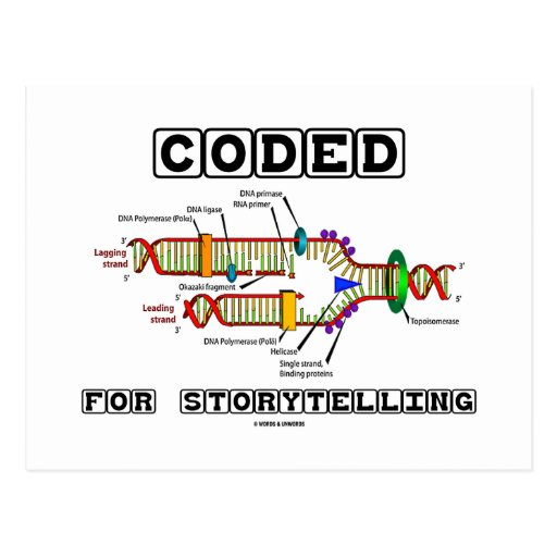 Coded For Storytelling (DNA Replication) Post Card