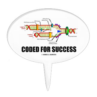 Coded For Success (DNA Replication) Cake Topper