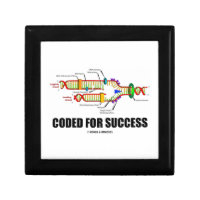 Coded For Success (DNA Replication) Keepsake Box
