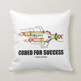 Coded For Success (DNA Replication) Throw Pillows