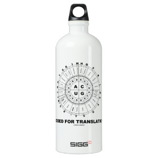 Coded For Translation (RNA Codon Wheel) Aluminum Water Bottle