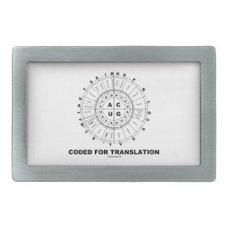 Coded For Translation (RNA Codon Wheel) Rectangular Belt Buckle