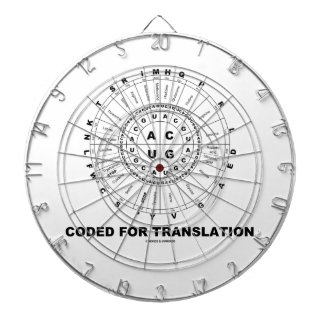 Coded For Translation (RNA Codon Wheel) Dartboard