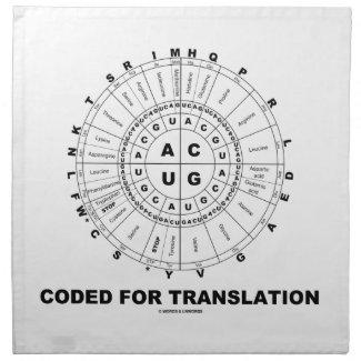 Coded For Translation (RNA Codon Wheel) Napkins