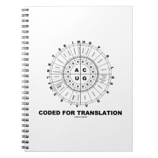 Coded For Translation (RNA Codon Wheel) Spiral Notebook