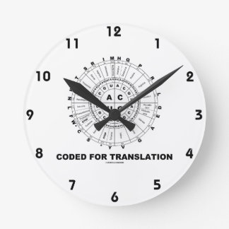 Coded For Translation (RNA Codon Wheel) Round Clock