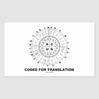 Coded For Translation RNA Codon Wheel Stickers