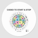 Coded To Start And Stop (Codon Wheel) Classic Round Sticker