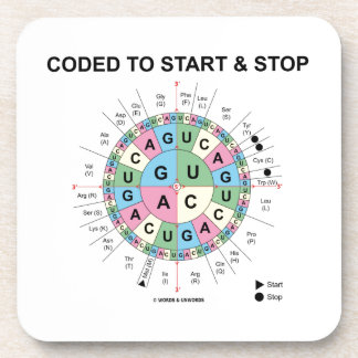 Coded To Start And Stop (Codon Wheel) Drink Coaster