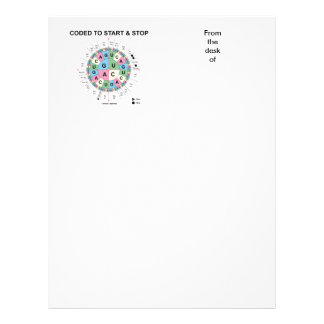 Coded To Start And Stop (Codon Wheel) Letterhead Template