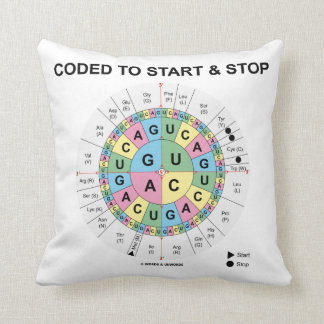 Coded To Start And Stop (Codon Wheel) Throw Pillow