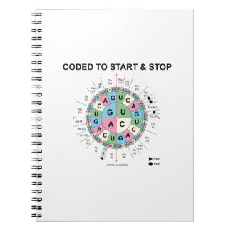 Coded To Start And Stop (Codon Wheel) Spiral Notebook