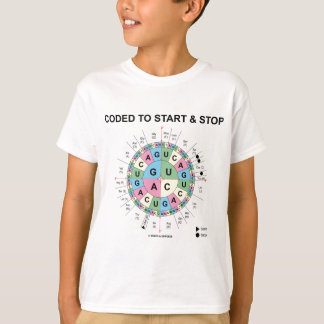 Coded To Start And Stop (Codon Wheel) T-Shirt