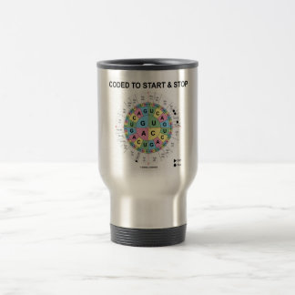 Coded To Start And Stop (Codon Wheel) Travel Mug