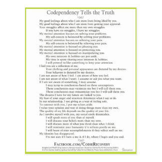 Codependency Tells the Truth Postcard