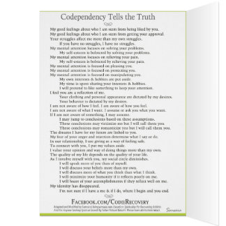 Codependency Tells the Truth Recovery Card