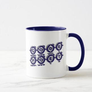 Codepoet ligó - el gris azul 3D Taza