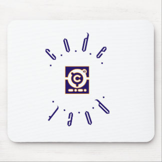 Codepoet Ring Logo- Blue Red Outline Mouse Pad