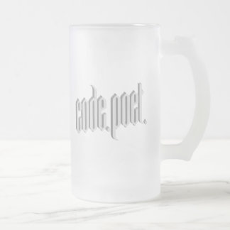 Codepoet White Gray 3D Frosted Glass Beer Mug