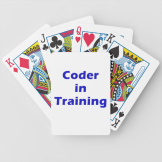 Coder in Training Bicycle Poker Deck