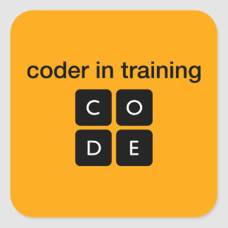Coder In Training Square Sticker