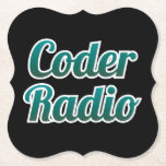 "Coder Radio Coasters<br><div class=""desc"">Coder Radio is celebrating episode 300 in style with these awesome coasters!</div>"