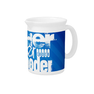 Coder; Royal Blue Stripes Beverage Pitchers