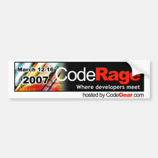 CodeRage Sticker Car Bumper Sticker