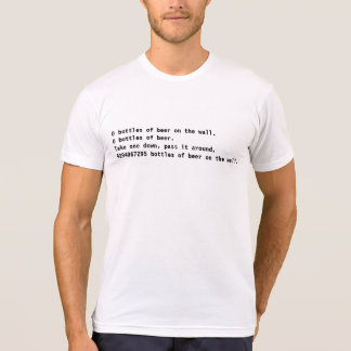 Coderz: ¡4294967295 botellas de cerveza! (C++) Camisetas
