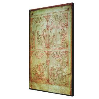 Codex 507 fol.2r Weaver, Shoemaker, Fishermen and Canvas Print