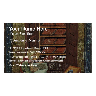 Codex Amiatinus Scene Esdra Working On The Renovat Double-Sided Standard Business Cards (Pack Of 100)