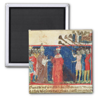 Codex Correr I 383 Doge Sebastiani Ziani receives Magnets
