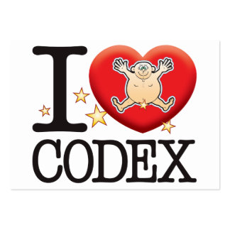 Codex Love Man Large Business Cards (Pack Of 100)