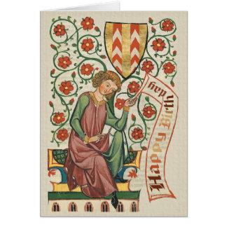 Codex Manesse CC0555 Birthday Card