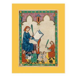 Codex Manesse Postcard