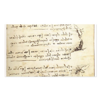 Codex on the flight of birds by Leonardo da Vinci Double-Sided Standard Business Cards (Pack Of 100)
