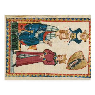 Codex one-eats - king Tyro of Scot postcard