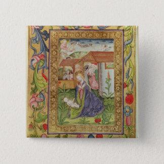 Codex Ser Nov 2599 f. 39v The Birth of Christ Button