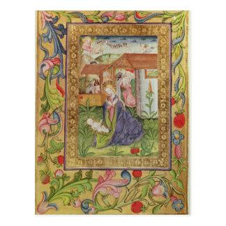Codex Ser Nov 2599 f. 39v The Birth of Christ Postcard