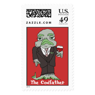 Codfather Fishy Custom Postage Stamp