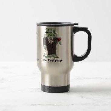 Coffee Themed Codfather Travel Coffee Mug