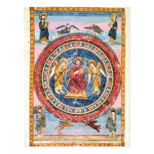 Códice Amiatinus Cristo en majestad Postales